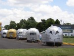 Vintage Airstreams at the Factory