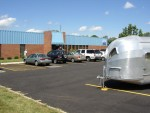 Airstream Factory - Vintage Airstreams out front